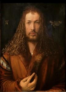 Dürer, Albrecht: Selbstbildnis im Pelzrock (1500) Quelle: Wikipedia