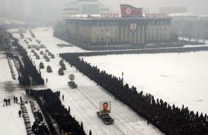 Bestattung von Kim Jong Il ohne Retusche durch KCNA (Kyodo)