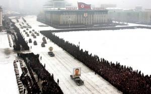 Bestattung von Kim Jong Il mit Retusche durch KCNA