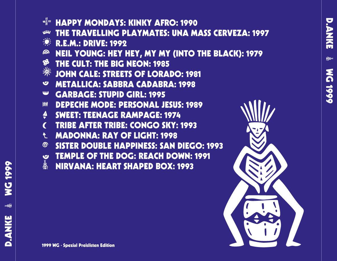 D.ANKE - CD-Cover Rückseite (1999)