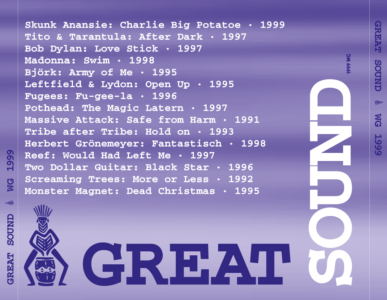 Great Sound - CD-Cover Rückseite (1999)