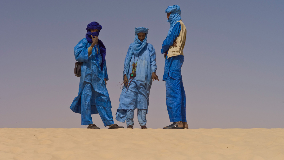 Touaregs at the Festival au Desert near Timbuktu, Mali 2012 (Foto: Alfred Weidinger, Wikipedia)