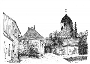 Königsfeld - Blick zum Kirchhof (1992)