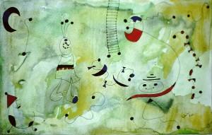 Gensmantel: Miró-Motiv für C. (1984-03)