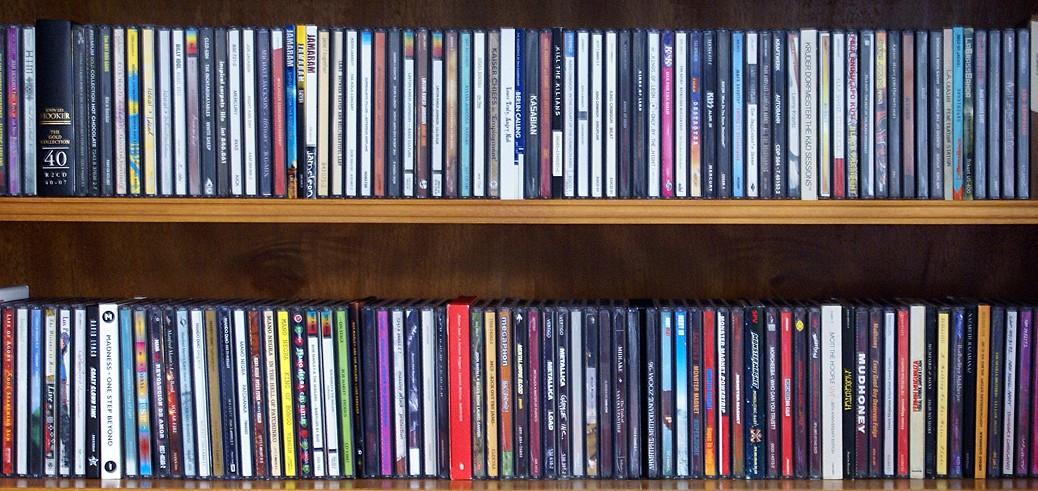 CD-Schrank (kleiner Ausschnitt)