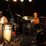 Ginger Baker's Jazz Confusion: Abass Dodoo und Ginger Baker in der Kofferfabrik Fürth am 2014-02-09