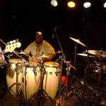 Ginger Baker's Jazz Confusion: Alec Dankworth, Abass Dodoo und Ginger Baker in der Kofferfabrik Fürth am 2014-02-09