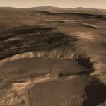 Krater auf dem Mars im Hellas Basin