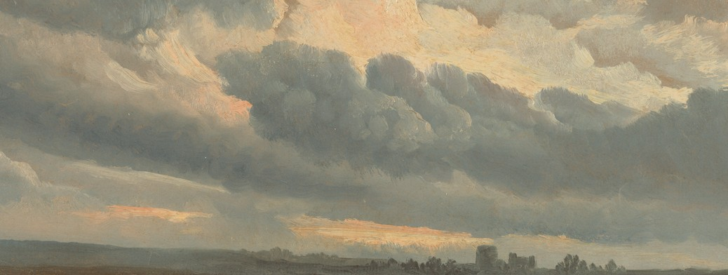 Simon Alexandre-Clément Denis: Study of Clouds with a Sunset near Rome (1786 - 1801)