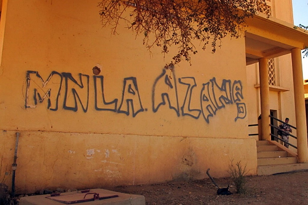 MNLA Graffiti in Gao, Mali