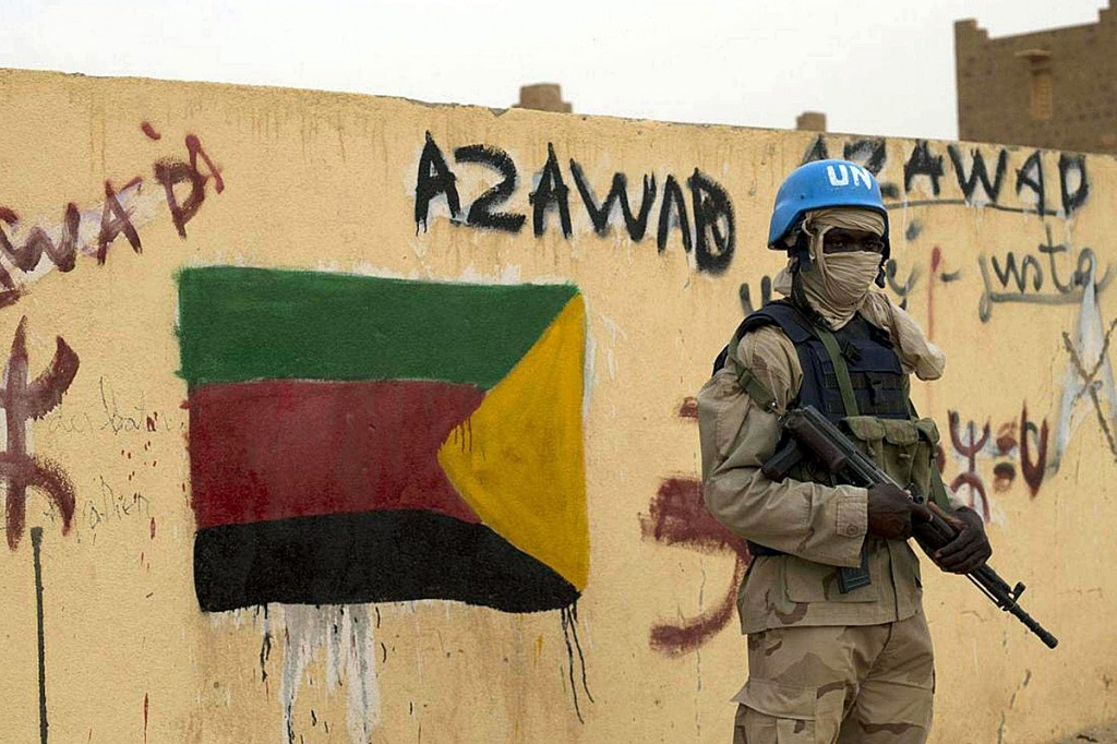 Azawad Graffiti in Kidal , Mali