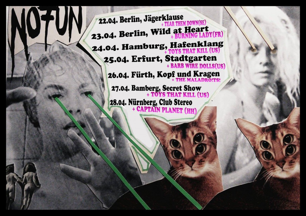 No Fun: Tourneeplakat April 2014