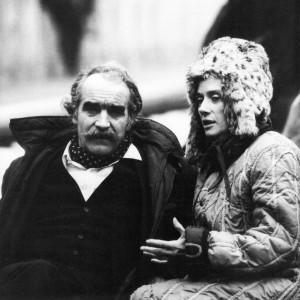 Jean Tinguely und Niki de Saint Phalle beim Strawinsky Brunnen (1982)