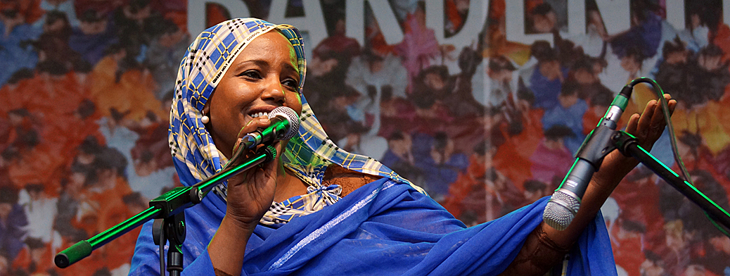 Aziza Brahim: Bardentreffen 2014 - Header