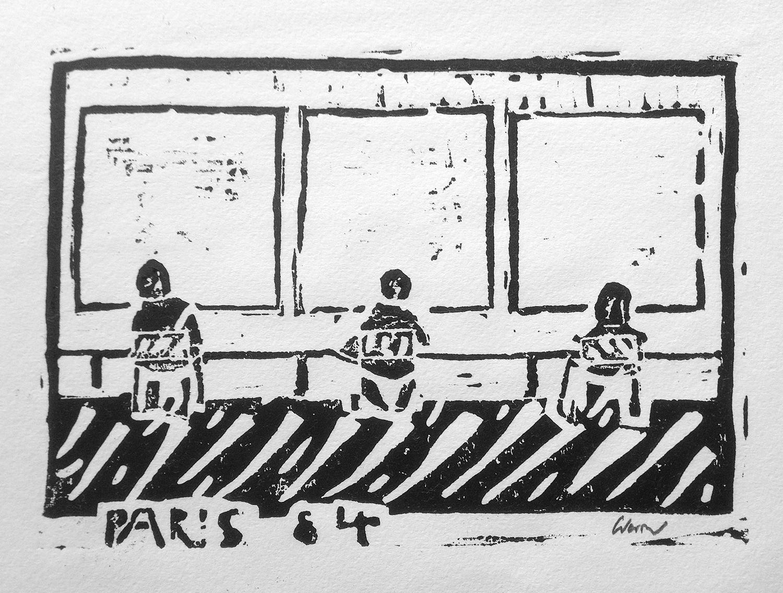 Drei weiße Bilder von Robert Ryman im Centre Pompidou (1984)
