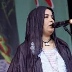 Fatma Walet Cheick vonTamikrest in Nürnberg beim Bardentreffen 2014