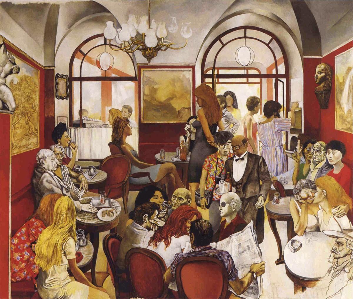 Guttuso, Renato: Caffè Greco (1976)