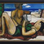 Richter, Gerhard: Lesende am Strand (1960)
