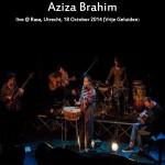Brahim, Aziza: live @ Rasa, Utrecht (2015)