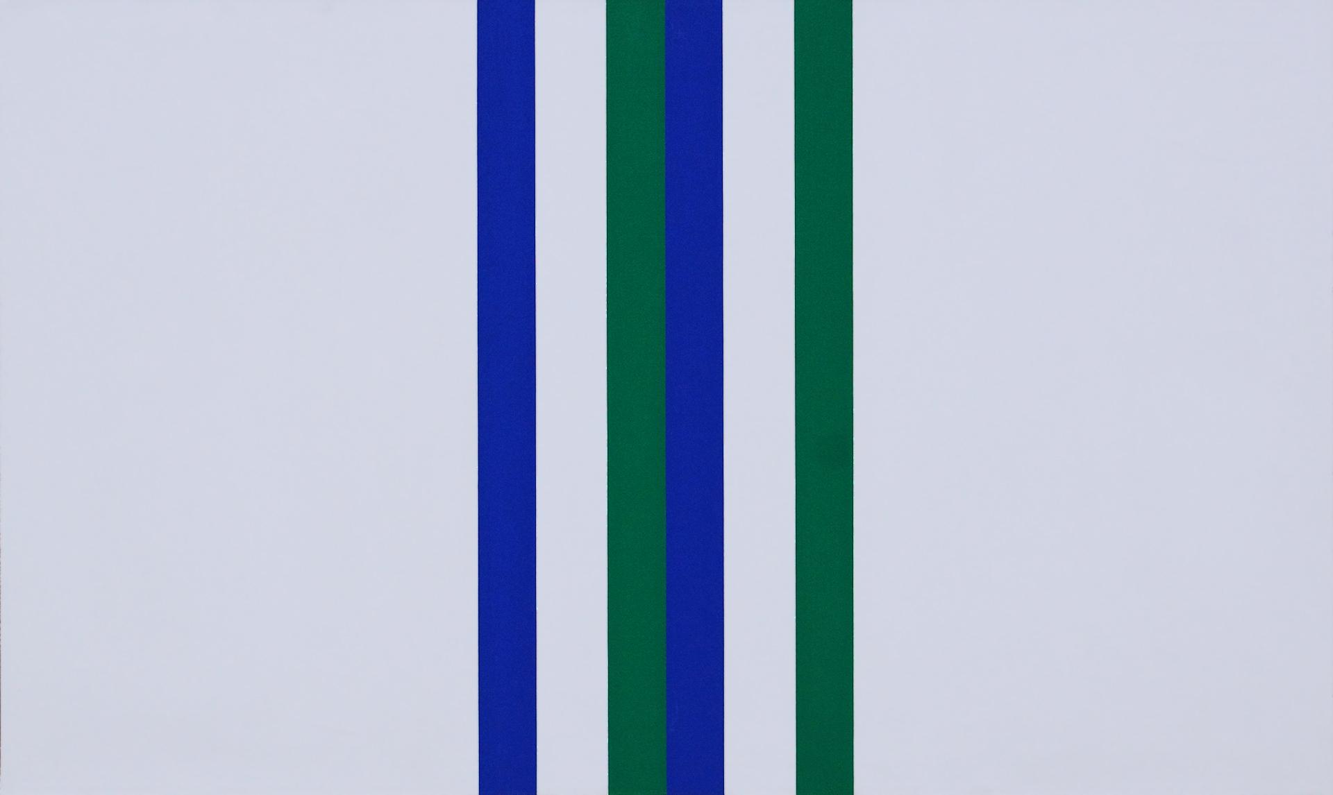 Andreas Brandt: Streifen auf Weiß (1978)