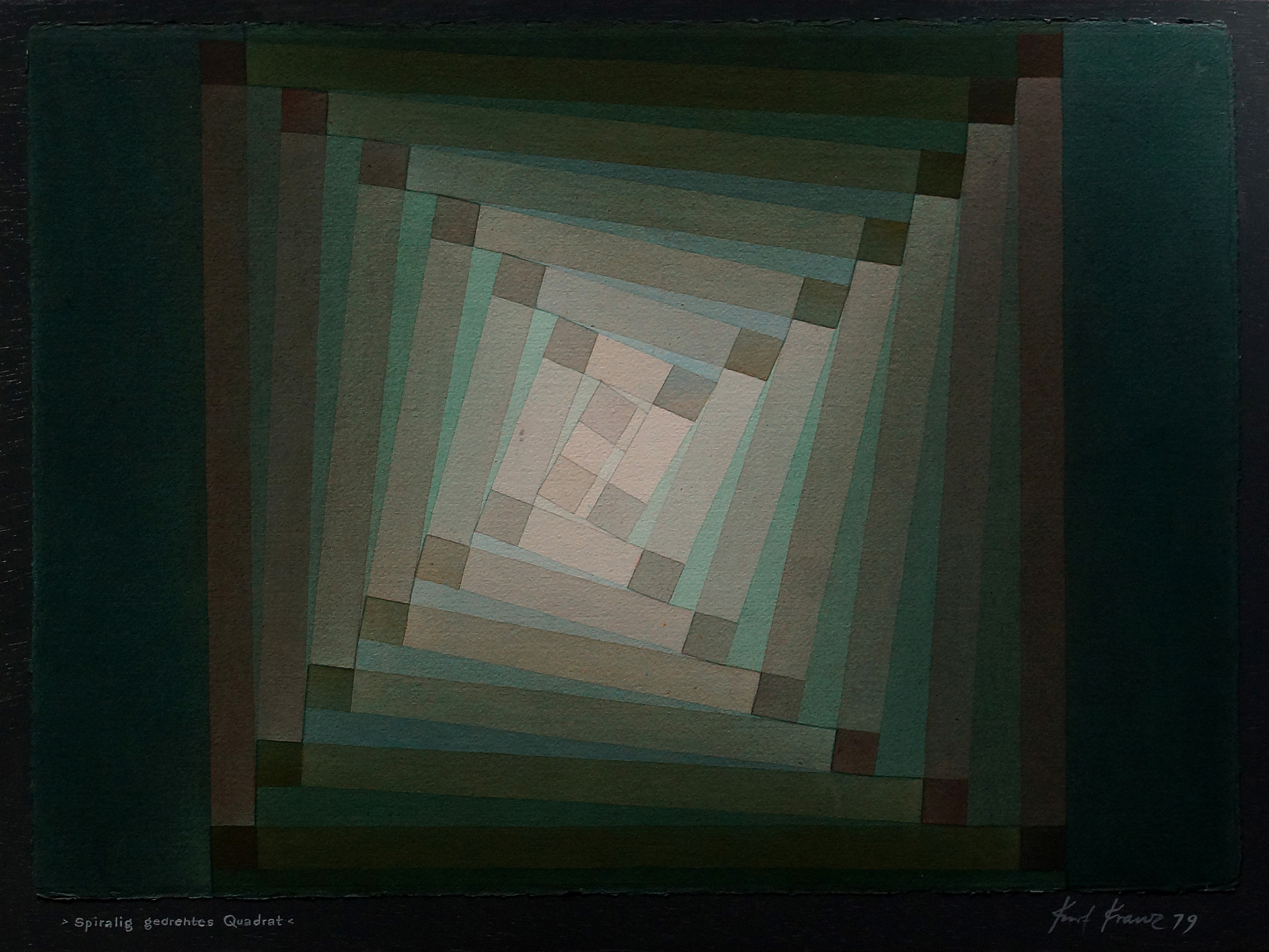 Kurt Kranz: Spiralig gedrehtes Quadrat (1979)