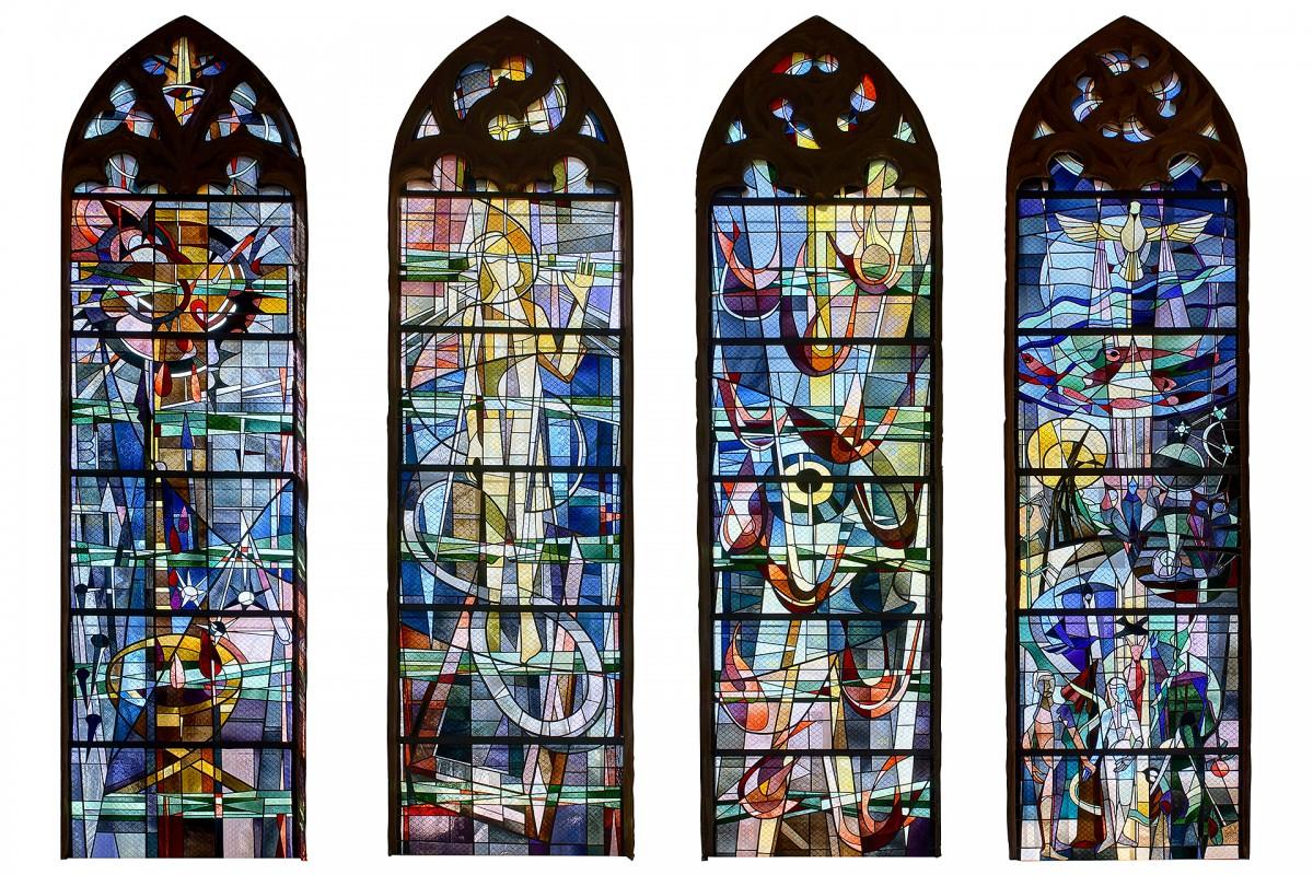 Ernst Weiers: Glasfenster Chor Martin-Luther-Kirche Stein Nürnberg (1960)