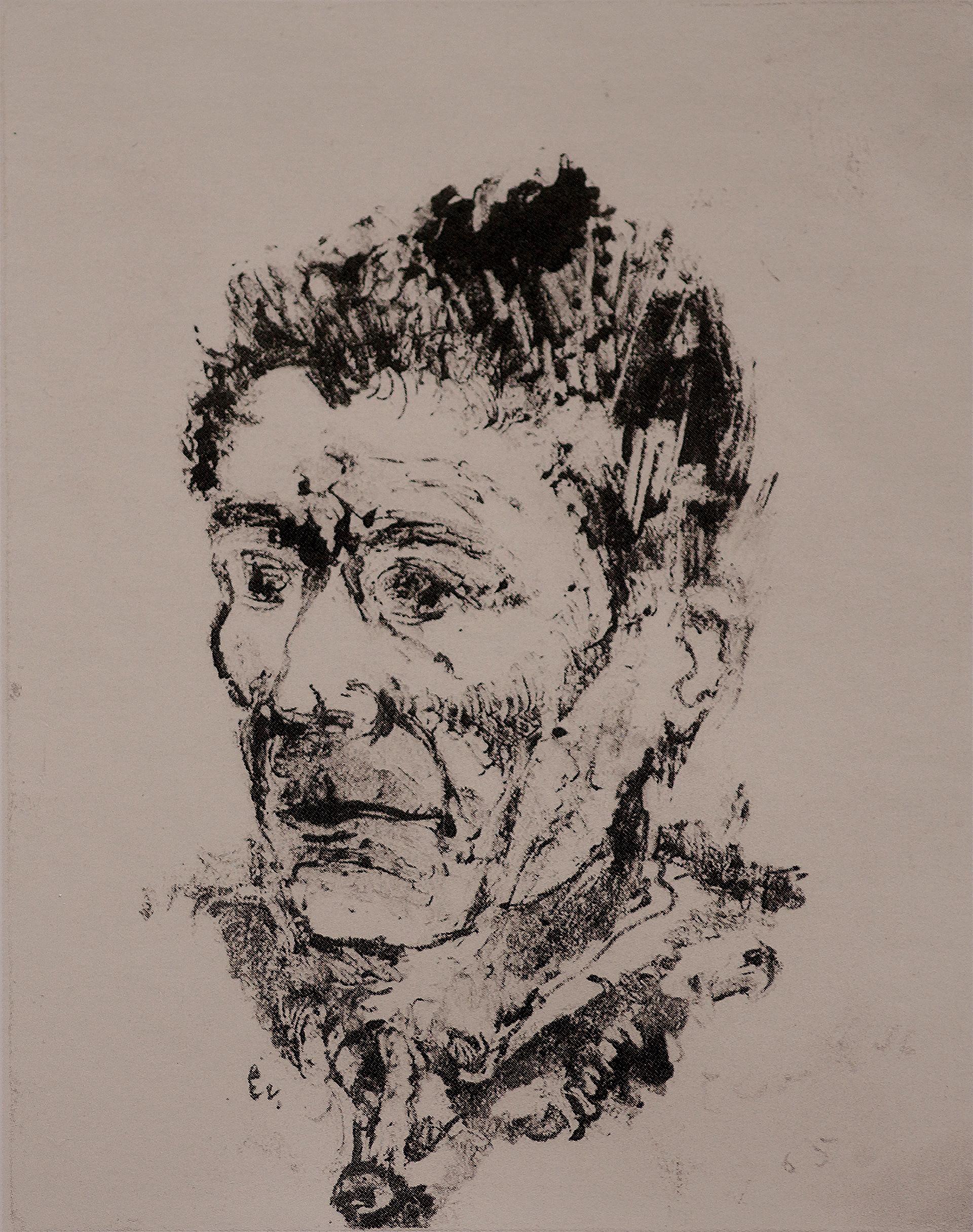 Ernst Weiers: Selbstportrait in Gefangenschaft (1946/1947)