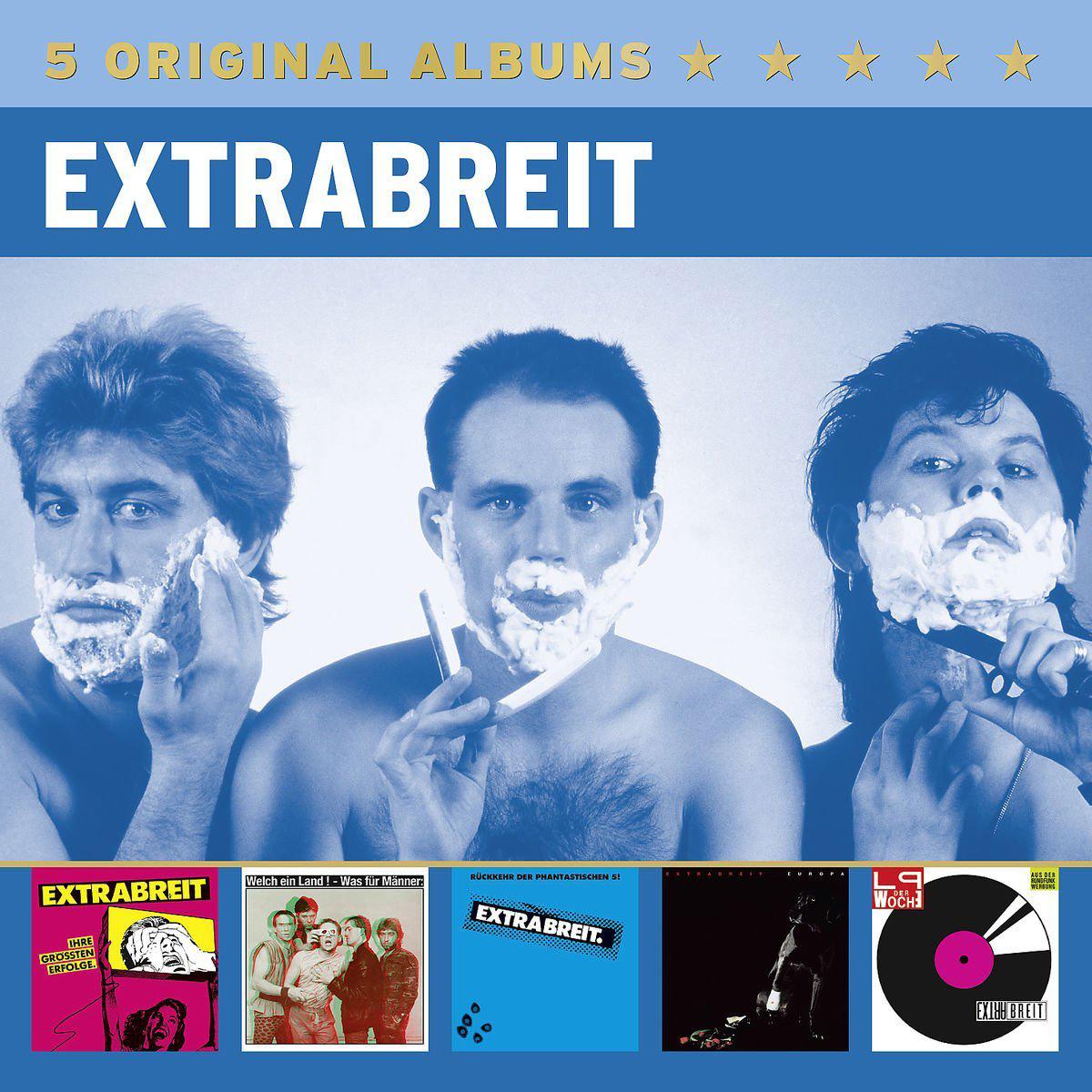Extrabreit: 5 Original Albums (2015) (Ihre größten Erfolge (1980), Welch ein Land ! – Was für Männer (1981), Rückkehr der phantastischen 5! (1982), Europa (1983), LP der Woche (1984))