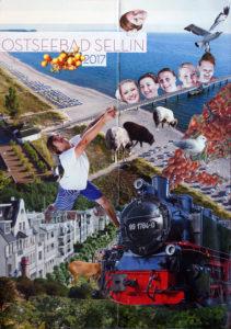 Urlaubscollage Ostseebad Sellin 2017